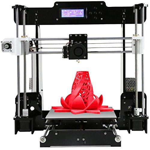 Imprimante 3D De 1,75 Mm De Bureau De Filament avec Tous Les MK8 De Métal Extrudeuse Buse Acrylique Cadre Écran LCD Kit De Bricolage Personnel, avec Vidéo Détaillée avec 8 Go De Support De Carte SD