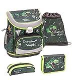 Belmil Set de mochila y accesorios escolares Dino Attack 405-33