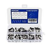 10 Values 200pcs npn Transistor kit, WOWOONE Transistor Assortment, BC337 BC327 2N2222 2N2907 2N3904 2N3906 S8050 S8550 A1015 C1815, Transistors Box Pack