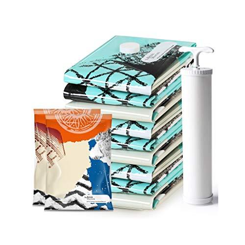 Sac de compression vêtement 4 moyen 4 petit sac de compression de vide avec pompe de pompage à main colorée
