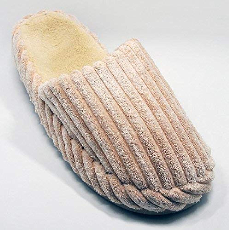 Men's Casual Slipper Indoor Keep Warm shoes Home Bedroom Cotton Medium Soild color Beige Slipper for Men