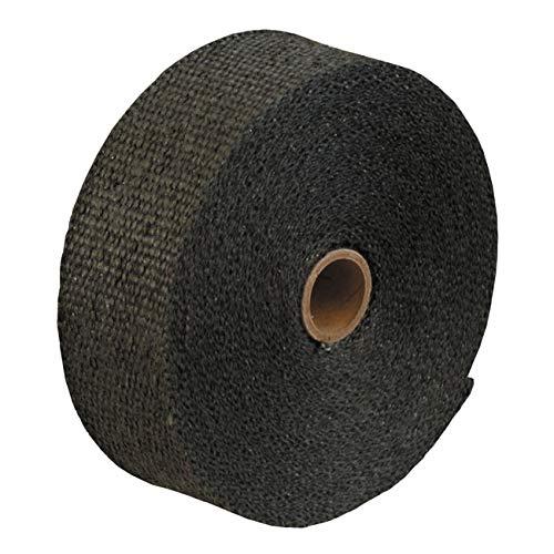 Thermo-Tec resistente al calore isolante scarico Wrap, 15m (50piedi) lungo, 1cm di larghezza, colore: nero grafite