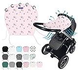 Doky - Parasol universal para cochecito y silla de bebé (estilo UV+ 40), color gris