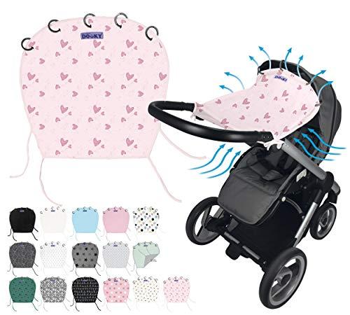Original DOOKY ** Style UV+ 40 ** Universal Sonnenschutz/Sonnensegel/Sonnenblende für Kinderwagen und Babyschale (Origami Grey)