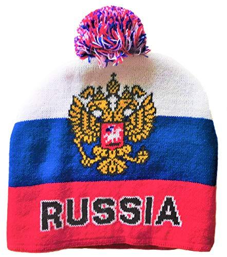 Generisch Russland Russia Bommelmütze...