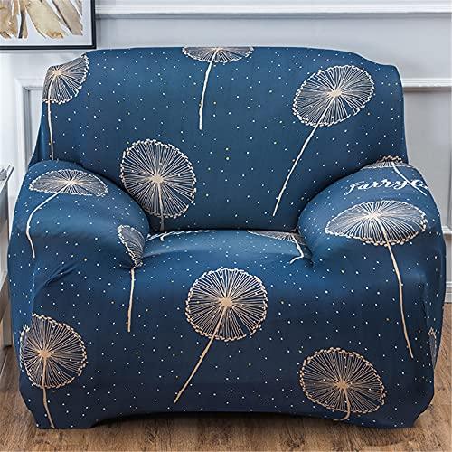 Sofá funda para sala de estar, altas cubiertas de protectores de muebles de tela elástica, cubierta de sofá impreso con la misma funda de almohada de estilo y tiras de espuma- Pattern 19   1 Seater