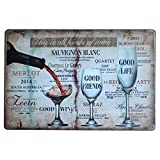 Kentop Plaque Poster Mural Vintage Plaque en métal Mural Signe Affiche Thème du Bar Plaque Cafe Home Bar Pub Vin Sticker Mural de décoration style2