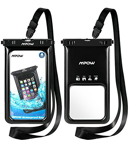 Mpow Funda Móvil Impermeable Flotante, Bolsa de Teléfono Móvil Seca para iPhone 11/XR/XS/XS MAX/X/8/8 Plus/7/7 Plus,Google Pixel, LG G6, Huawei, BQ Aquaris,Sony,Galaxy(2 Paquetes)