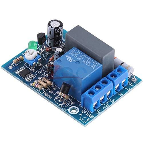XYHHStor Relè AC 220V Timer Relay Ritardo Interruttore Ingresso/Uscita Ritardo off Switch Module Regolabile Timing 0-10Sec 10Min 10Hr 100min Spegni Consiglio Relè elettronico, (Size : 0 10Hr)