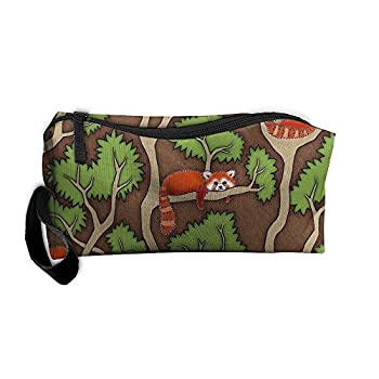 Styleforyou Travel Makeup Forest Red Panda Cosmetic Case Organizer Portable Artist Storage Bag Toiletry Jewelry Bag
