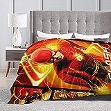 The Flash Flannel Fleece Blanket, Ultra Soft Warmthrow Lightweight Microfleece Blanket for Home Sofa Bed 80'x60'