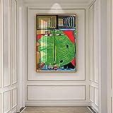 Cuadros Decoracion, Vintage Vogue Decoración Abstracta Impresión En Lienzo Pintura Póster Arte Imáge...