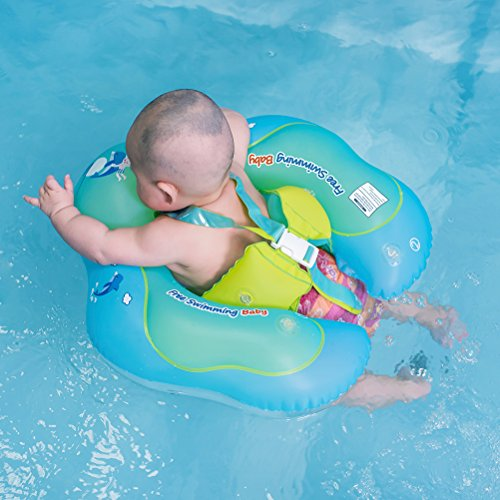 Free Swimming Baby Inflatable Baby Swimming Float Ring Children Waist Float Ring Inflatable Floats Pool Toys Swimming Pool Accessories for The Age of 3-36 Months(Blue, XL)