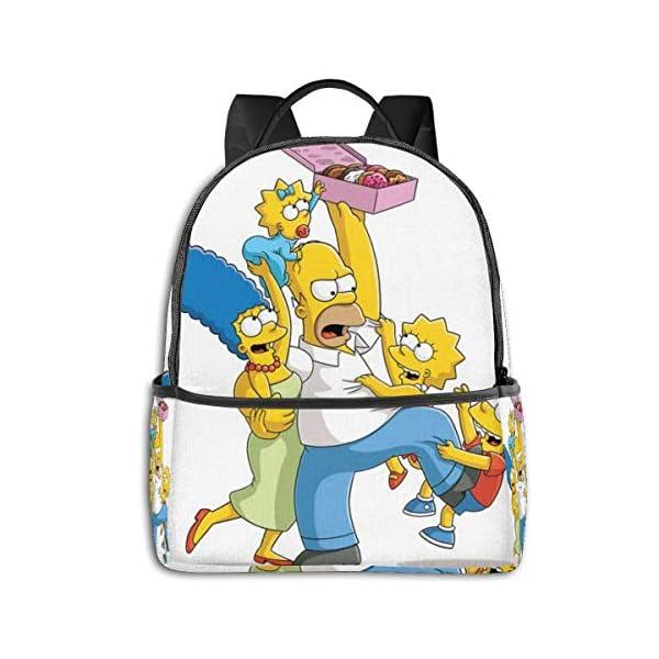 51ifZ9Vn bL. SS600  - Anime Cartoon Simpsons - Mochila para Estudiantes, Unisex, diseño de Dibujos Animados, 14,5 x 30,5 x 12,7 cm
