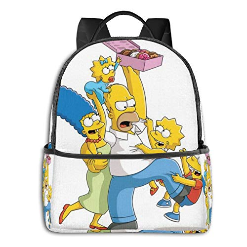 51ifZ9Vn bL - Anime Cartoon Simpsons - Mochila para Estudiantes, Unisex, diseño de Dibujos Animados, 14,5 x 30,5 x 12,7 cm
