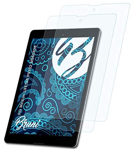 Bruni Schutzfolie kompatibel mit Medion LIFETAB P9702 MD60828 Folie, glasklare Bildschirmschutzfolie (2X)