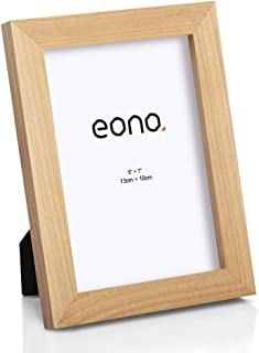 Eono by Cadre en Bois Massif pour Photos de 10x15 cm avec Verre Haute d/éfinition /à Poser sur Un Meuble ou /à accrocher au Mur Marron