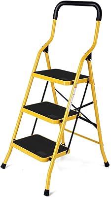 YLYDENGZ ZHDC® Taburetes de peldaños, Escalera Plegable Escalera de Interior telescópica de Interior Mini multifunción Taburete Perezoso: Amazon.es: Hogar