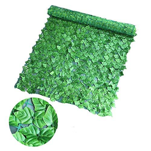 GeKLok Künstlicher Sichtschutz, Efeublatt-Sichtschutz, Gartenzaun/Wand-Sichtschutz-Absicherung, geeignet für Außen- und Innenbereiche