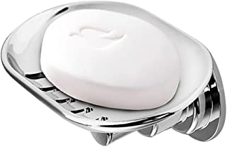 BOPai Elegant Suction Soap Dish for Shower, Powerful Vacuum Suction Cup Soap Holder,Bathroom Kitchen