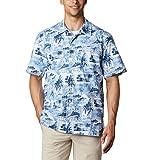 Columbia Men's Trollers Best Short Sleeve Shirt, Skyler Polynesian Print, X-Large