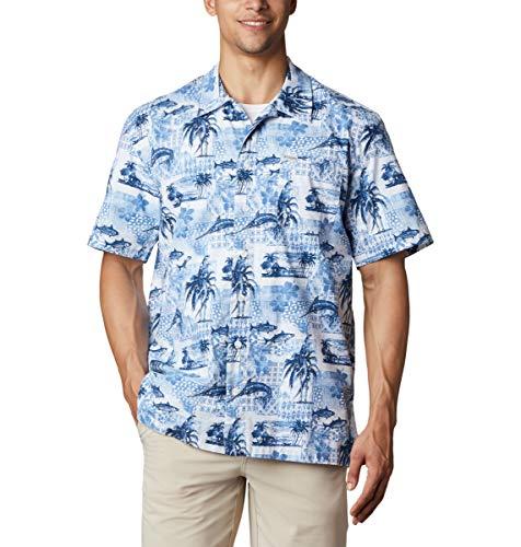Columbia Troller Best - Camisa de Manga Corta para Hombre, Estampado polinesio Skyler, XL
