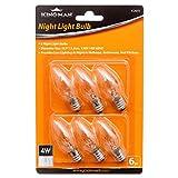 Kingman Night Light Bulb Warm White Replacement Bulbs (6 per Pack), 4W 120V