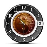 Taza de café con símbolo de Yin y Yang, Relojes de Pared para Cocina, Cultura China,...
