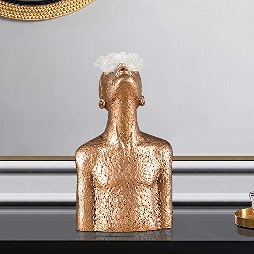 Artisanat d'ornement créatif en résine, Sculpture de Figure abstraite, pour la décoration de Bureau d'étagère de Bureau à Domicile, B