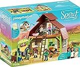 Playmobil Spirit-Riding Free Grange avec Lucky, Apo et Abigaëlle, 70118