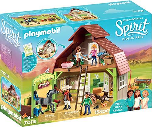 Playmobil Spirit-Riding Free Grange avec Lucky, Apo et Abigaëlle,...