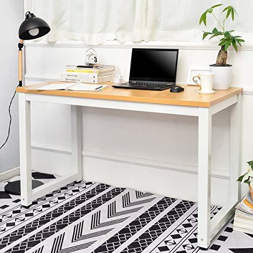 Jawneny PC Tisch Bürotisch Computertisch Schreibtische Bürotisch Arbeitstisch Schreibtisch Holz Officetisch Esstisch für Zuhause Büro Schlafzimmer Rleichterte Montage, 120x60x75 cm