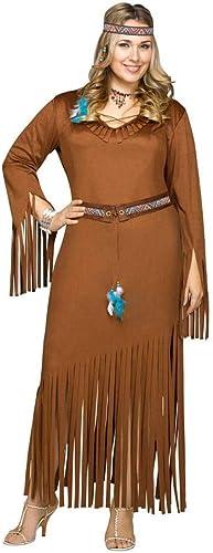 Horror-Shop Indianerin Kostüm XL für Damen XL 44 46