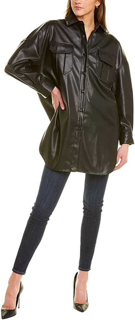 BB Dakota by Steve Madden womens Faux Long Partner Shirt Jacket
