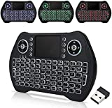 Zedo Backlit Mini Wireless Keyboard 2.4G, Handheld Remote with Touchpad Mouse for Android TV Box, Windows PC, HTPC, IPTV, Raspberry Pi, XBOX 360, PS3, PS4