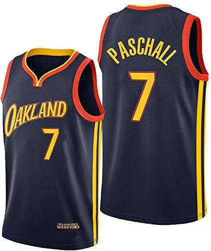 FEZBD Baloncesto para Hombre NBA Jersey Paschall # 7 Warriors Unisex Chalecos Casuales Deportes Camisetas,Negro,S165~170cm