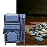 Staffelei Großvolumige Art Test-Tasche Multifunktions-wasserdichte Tasche 4K-Doppelt-Schulter-Kunst-Tasche HUYP (Color : Blue)