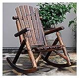 DGDF Silla de Mecedora Muebles de Exterior Silla Mecedora de Madera Antiguo Americano Estilo país Adulto jardín Mecedora sillón sillón