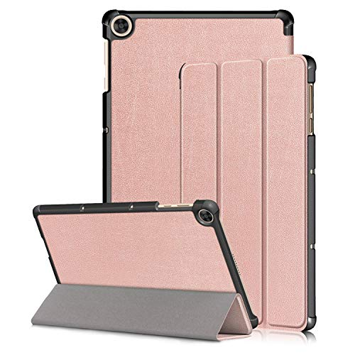 Kemocy Custodia Cover per Huawei MatePad T10 / T10s 2020,Flip Smart Cover in Pelle PU con Supporto per Huawei MatePad T10s 10.1' AGS3-L09 AGS3-W09 / T10 9.7' AGR-L09 AGR-W09 Tablet,Oro Rosa