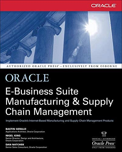 Oracle E Business Suite Manufacturing Supply Chain Management product image