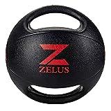 ZELUS Medizinball Gummimedizinball mit Handgriffen Fitnessball Gewichtsball Gymnastikball Dual Grip Medicine Ball with Durable Rubber Textured Grip 3kg 5kg 6kg 8kg 9kg 10kg -
