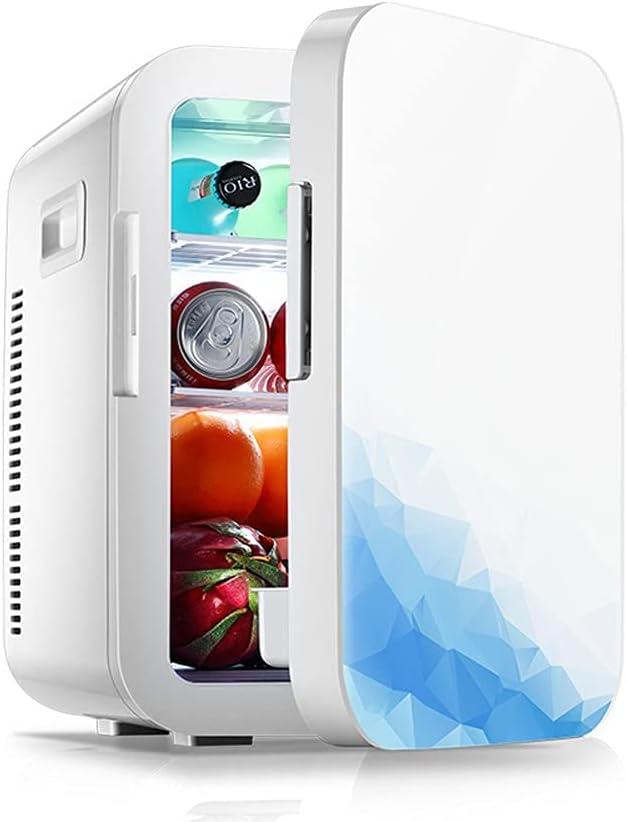 Rghfn Refrigerador De Doble Núcleo De 75W, 20L / 27 Latas, Congelador Eléctrico De 12 V, Refrigerador para Automóvil, Fuente De Alimentación De CA/CC, Calentador con Panel De Control De Temperatura,