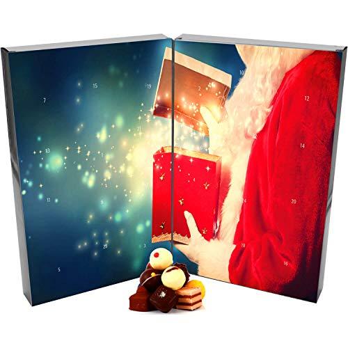 Hallingers Pralinen-Adventskalender - Santa (Buch-Karton)