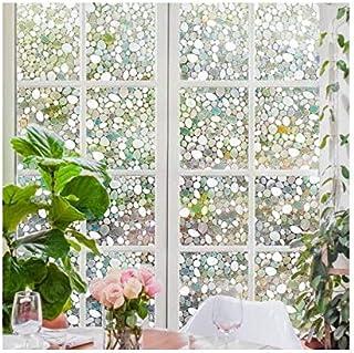 غطاء نافذة للخصوصية مزخرف، زجاج لاصق ثابت ثلاثي الأبعاد غشاء زجاجي للمنزل والمكتب