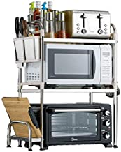 Home Living Museum/Kitchen Shelf 304 Stainless Steel Floor Standing Microwave Storage Storage Shelf Floor Multi Layer Thic...