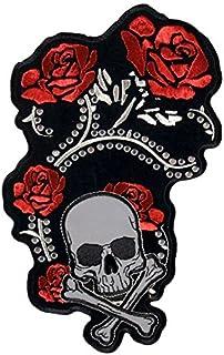 Patch, patch, patch, roze, doodskop, reflecterend, strass, Lady Rider