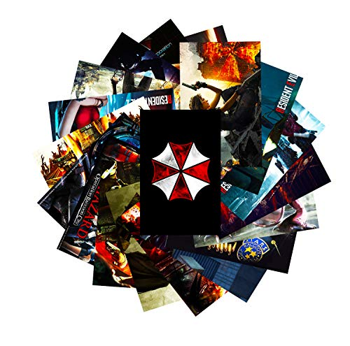 GTOTd Stickers for Resident Evil 20-Pcs, Gifts Resident Evil Sticker Decor Decals of Vinyls for Laptop WindowGift Teens Collection Skateboard etc.