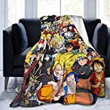 Wrenho Anime Characters Super Soft Flannel Throw Blanket Lightweight Shaggy Air Conditioner Blanket Cooling Blankets Cooling Summer Blanket Towel Blanket for Couch