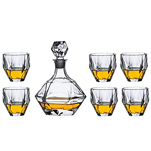 Whisky Stones And Glass Set, Carafe And Crystal Glasses, Great Gift
