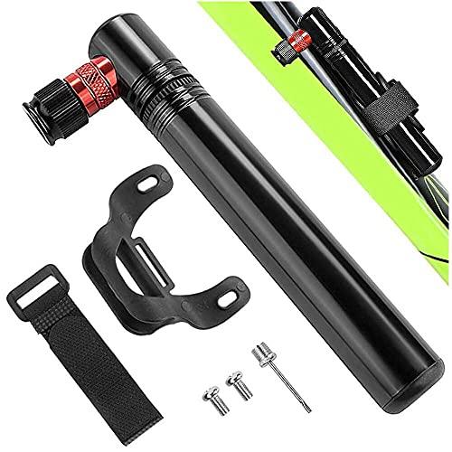 junmo shop Mini bomba de bicicleta de 120 PSI con soporte de montaje para válvula Presta y Schrader para bicicletas de carretera, bicicletas de montaña